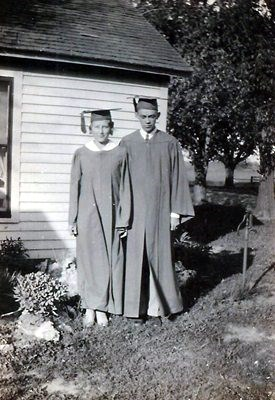 1933 - Mary and Rollin's Graduation Picture