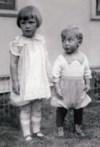 Lloyd Henderson, age 2, Arlene Henderson, age 3, 1926
