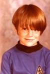 Elementary school Mike in his best Star Trek shirt.