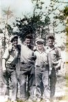 The Four Brothers 1932 Wekusko Herb Lake, Manitoba Jack 16, Joe 20, Ed 14, Bob 18