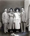 (Left to right) Thomas & Ida Castringnano ( Brother in law and sister) Maria and Leo Casino