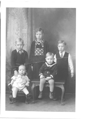 Back row left to right: Krail, Irene, Herb; Front row left to right: Mel, Vern