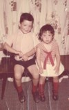 Leanna, age 3 years and David, age 4 in July 1965