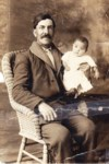 Mom and her father.  She was 4 months old at the beginning of her life, 1917